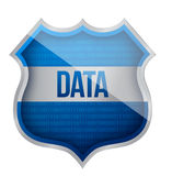 Security Data shield Royalty Free Stock Photo
