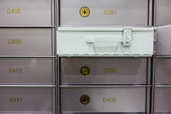 Security deposit box in a safe room Stock Images