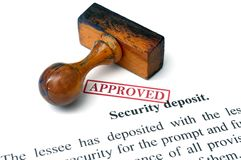 Security deposit. Close up of Security deposit Royalty Free Stock Photo