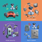 Security Design Concept Set Stock Photos
