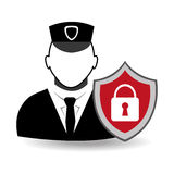Security design, vector illustration. Stock Image