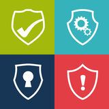 Security design, vector illustration, Royalty Free Stock Images