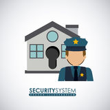Security design, vector illustration. Royalty Free Stock Photography
