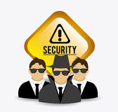 Security design, vector illustration. Royalty Free Stock Image