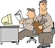 Security Desk vector illustration