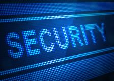 Security digital screen 3d illustration. With blue colour Royalty Free Stock Image
