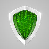 Security digital shield concept. Web security or cryptocurrency sign. Stock Photo