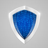 Security digital shield concept. Web security or cryptocurrency sign. Royalty Free Stock Images