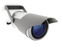 Security digital tv camera Stock Image