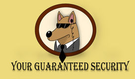 Security. Service Picture, where a guard dog Stock Photography