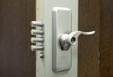 Security door lock Royalty Free Stock Image