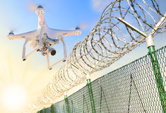 Security drone. Royalty Free Stock Images