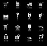 Security and e-commerce icon set series Stock Photography