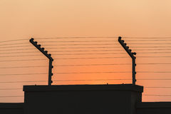 Security Electrified Wall stock photography