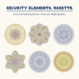 Security elements. Rosette. Royalty Free Stock Images