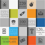 Security elements template royalty free illustration