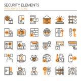 Security Elements Stock Photo