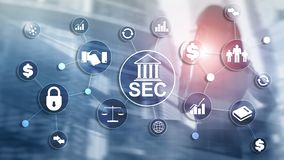 Security Exchange Committee SEC. Independent agency of the United States federal government. Security Exchange Committee SEC. Independent agency of the United stock photos