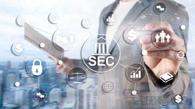 Security Exchange Committee SEC. Independent agency of the United States federal government.  royalty free stock photo