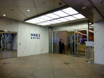 Security exchange of Hong Kong IFC Royalty Free Stock Photo
