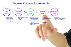 Security Feature for network Royalty Free Stock Photo
