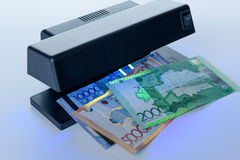 Security features on banknote in UV light protection Stock Images