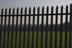 Security fence 3. Security fence to keep people out/in Stock Image