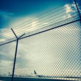 Security fence, Atlanta Hartsfield Airport Royalty Free Stock Photos