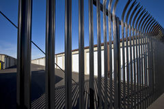 Security Fence for Storage Facility Stock Image