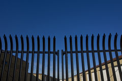 Security Fence for Storage Facility Stock Photo