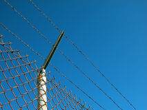 Security Fence with Wires Royalty Free Stock Photography