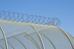 Security fencing detail Royalty Free Stock Images