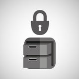 Security file cabinet icon design. Vector illustration eps 10 Royalty Free Stock Photography