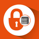 Security file cabinet icon design. Vector illustration eps 10 Royalty Free Stock Images