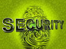 Security Fingerprint Indicates Company Id And Brand. Security Fingerprint Meaning Company Id And Brand Royalty Free Stock Photo