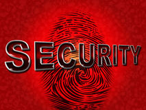 Security Fingerprint Shows Company Id And Protect. Security Fingerprint Indicating Company Id And Identification Stock Images