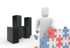 Security firewall building Stock Photo
