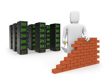 Security firewall building. Royalty Free Stock Images