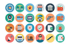 Security Flat Colored Icons 2 Stock Image