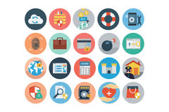 Security Flat Colored Icons 4 Stock Photography