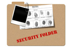 Security follder Royalty Free Stock Images