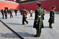 Security in The Forbidden City Beijing China Stock Photography