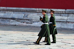 Security in The Forbidden City Beijing China Royalty Free Stock Images
