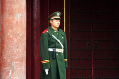Security in The Forbidden City Beijing China Stock Image