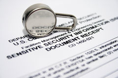 Security form Royalty Free Stock Photos