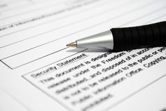 Security form Royalty Free Stock Images