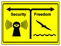 Security or Freedom Stock Photography