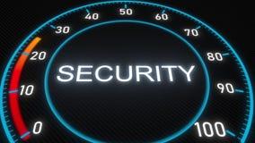 Security futuristic meter or indicator. Conceptual 3D animation. Futuristic meter conceptual 3D animation