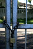 Security gate. Lock and chian Stock Images