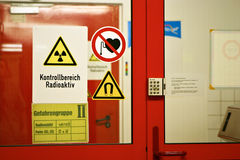 Security Gate. Entrance to restricted area in the German nuclear research center Royalty Free Stock Photography